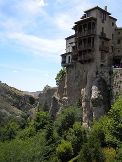 15th century Hanging Houses in Cuenca, Spain from the Early Renaissance, and the Early modern period.