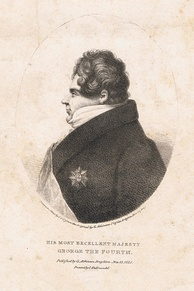 Lithograph of George IV in profile, by George Atkinson, printed by C. Hullmandel, 1821