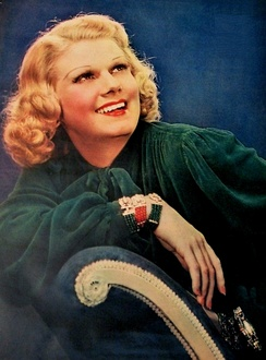 Jean Harlow shortly before her death in 1937