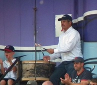 John Adams – who (along with his drum) has been an iconic fixture at Indians home games for over 40 years.