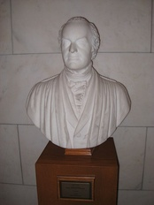 Bust of Joseph Story, sculpted by his son William Wetmore Story, currently on display at the United States Supreme Court building.