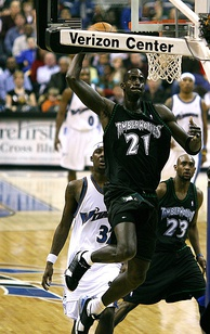 Kevin Garnett played for the Timberwolves from 1995 to 2007 before returning in 2015.