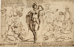 Drawing of a group of Khoi women, made by a Dutch artist in the early 1700s