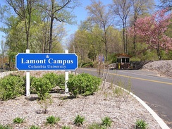 Lamont Campus entrance in Palisades, New York