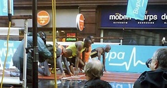 150 metres final at the Manchester City Games 2009