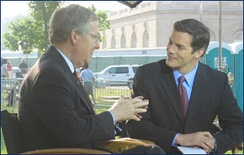 Hemmer interviewing Mitch McConnell in 2004
