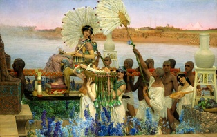 The Finding of Moses, painting by Sir Lawrence Alma-Tadema, 1904