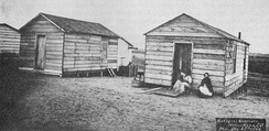 "Mitchelville ""refugee quarters"", 1864"