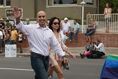 Neel Kashkari marching in the 2014 San Diego LGBT Pride Parade