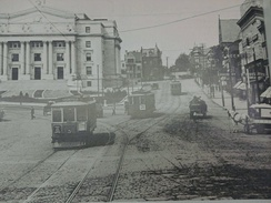 Newark Trolley line on Market Street near the present-day courthouse
