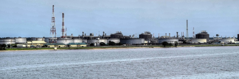 Oil facility at Bonny Island, Rivers State