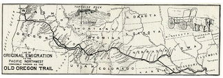 A map of the Oregon Trail, marking Independence.