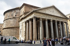 The Pantheon in Rome, Italy, now a Catholic church