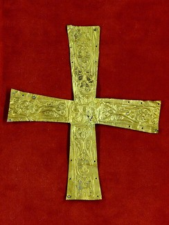 Gold pectoral cross from Italy or subalpine regions, late 6th century–7th century