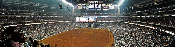 The annual Houston Livestock Show and Rodeo held inside the NRG Stadium