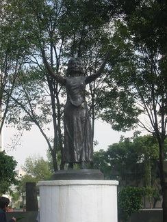 Silvia Pinal statue in Mexico City, Mexico