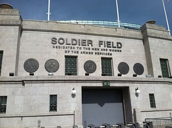 The Bears played all of their home games at Soldier Field.