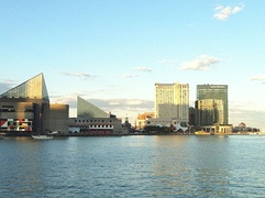 Sunset views from Baltimore's Inner Harbor