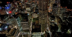 Central business district of Sydney at night from Sydney Tower