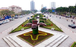 The center of Thai Nguyen city seen from Vo Nguyen Giap Square