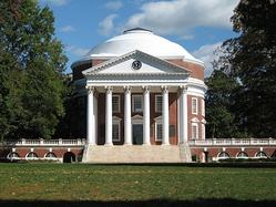 American Palladianism: The Rotunda at the University of Virginia, designed in the Palladian manner by Thomas Jefferson.