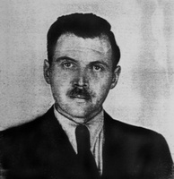 Photograph from Mengele's Argentine identification document (1956)
