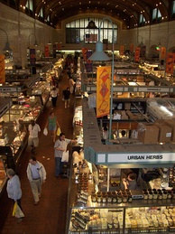The historic West Side Market is in Cleveland's Ohio City neighborhood.