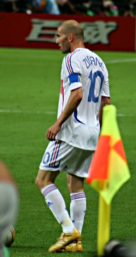 Zinedine Zidane captaining France at the 2006 FIFA World Cup