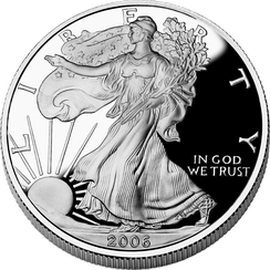 American Silver Eagle bullion proof coin