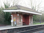 Waiting room at Mortimer Station on south-west side of railway line