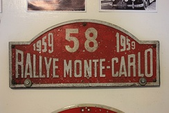A staging post from the 1959 Monte Carlo Rally