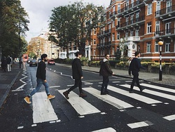Road crossing in London