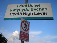 Bilingual signs are commonplace in Cardiff.