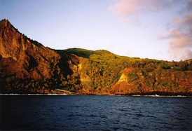 Pitcairn Islands: A view of Bounty Bay