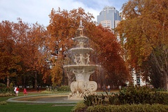 Carlton Gardens in autumn