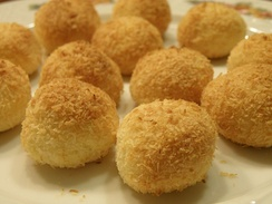 Cocadas are a traditional coconut candy or confectionery found in many parts of Latin America, made with eggs and shredded coconut.