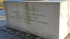 Memorial to the Victims of the Witch Trials, Principal Inscription, Danvers, Massachusetts