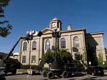 Town Hall during filming