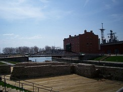 Buffalo's Erie Canal Commercial Slip in Spring 2008