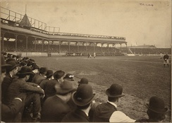 Game 4 of the 1903 World Series at Exposition Park.