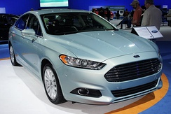 The Ford Fusion Energi is a plug-in hybrid with an all-electric range of 21 mi (34 km).