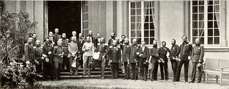 Monarchs of the member states of the German Confederation (with the exception of the Prussian king) meeting at Frankfurt in 1863
