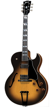 The two-pickup Gibson ES-175 archtop guitar has been in production continuously since 1949.
