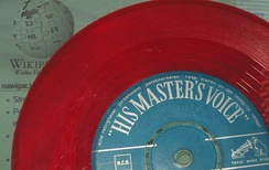 A coloured vinyl single released by HMV
