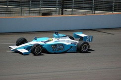A Panoz GF09 Indycar Series chassis driven by Jaques Lazier during practice for the 2007 Indianapolis 500