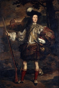 Lord Mungo Murray, the fifth son of the 1st Marquess of Atholl, depicted in Highland dress around 1680