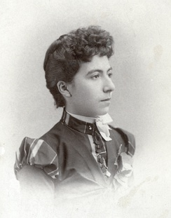 Possibly Josephine or Sadie Marcus in 1881.