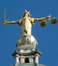 "Statue of Lady Justice on the dome of the Central Criminal Court of England and Wales in the City of London (the ""Old Bailey"")"