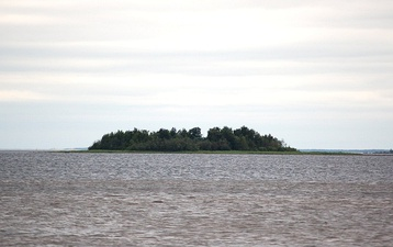 The island of Kahvankari in Oulu, Finland