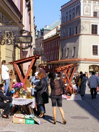 A street fair in the Old Town